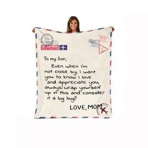 Custom Message Flannel Plush Nap Blanket
