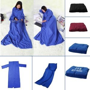 TV Plush Throw Blanket with Sleeves