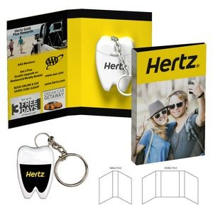 Tek Booklet with Tooth Shaped Dental Floss With Key Chain