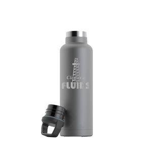 RTIC 20oz Ringed Graphite Stainless Steel Water Bottle