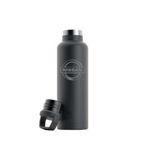 RTIC 20oz Ringed Charcoal Stainless Steel Water Bottle